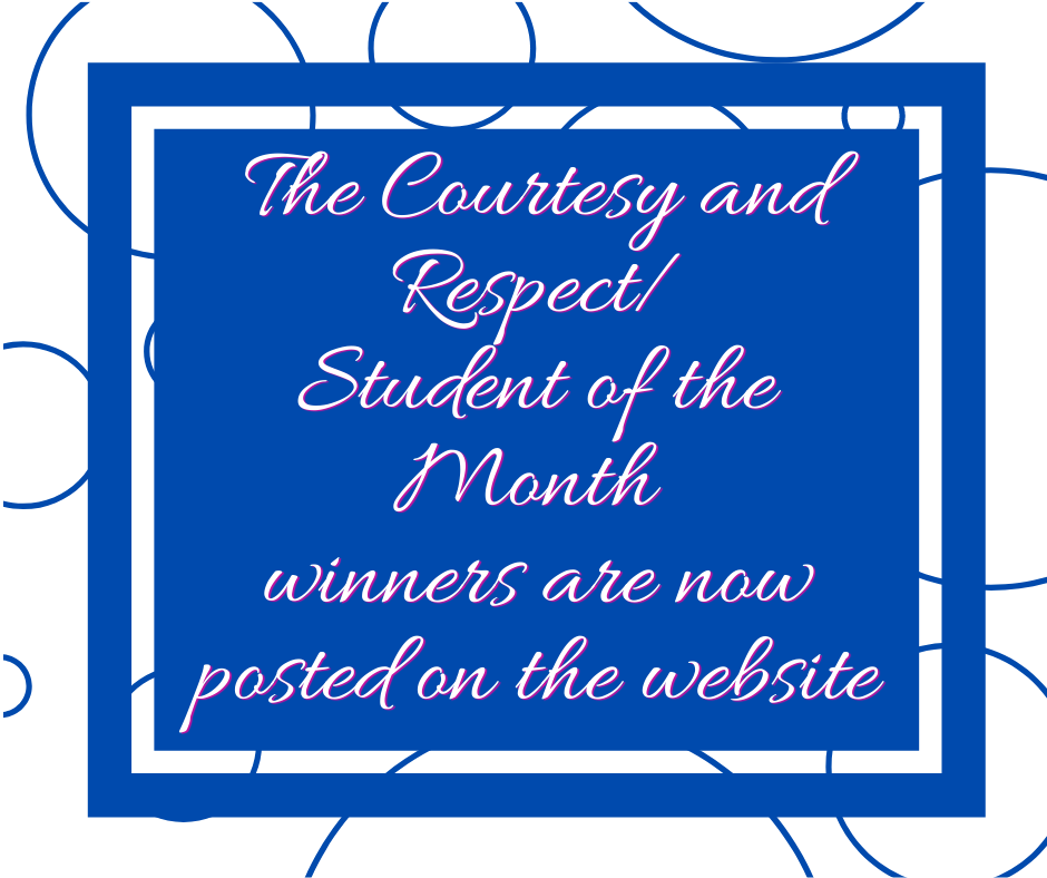 Congratulations to this month's winners...