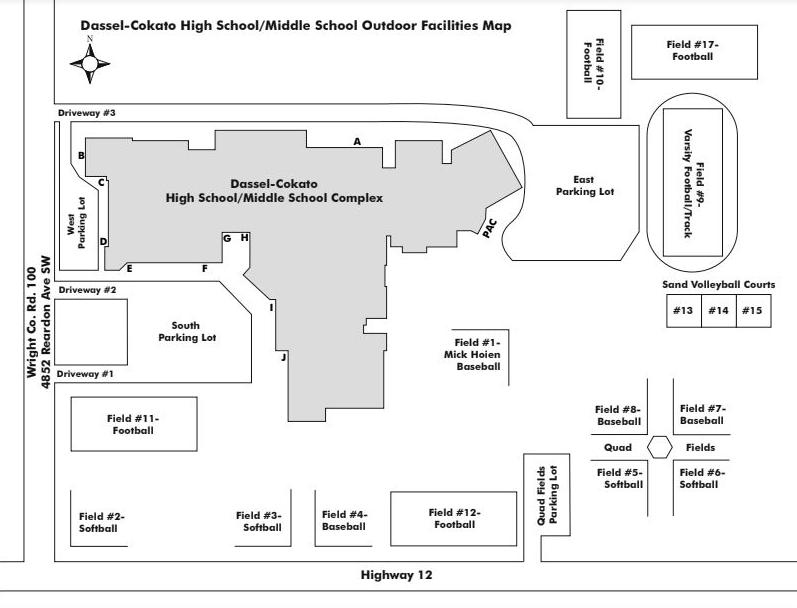 Dassel-Cokato High School/Middle School Outdoor Map